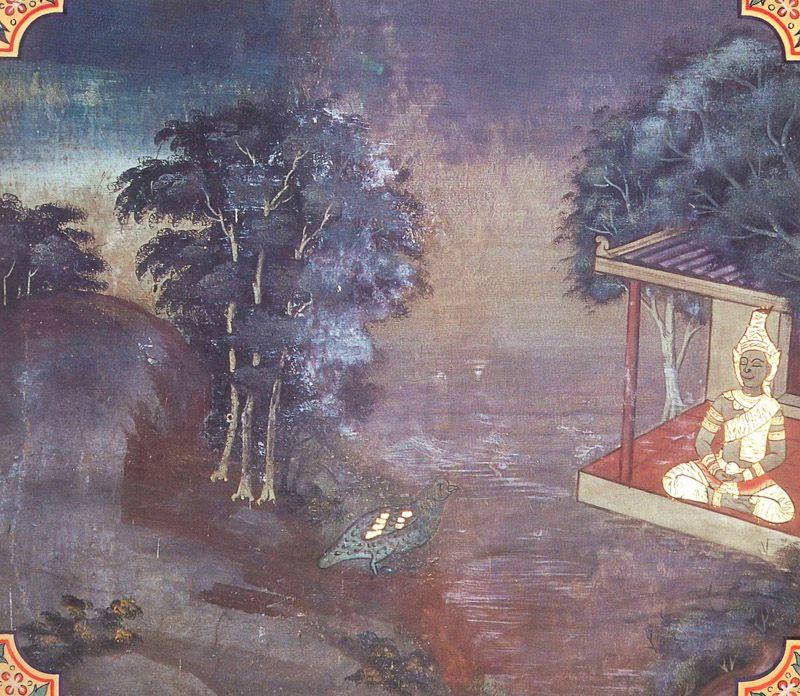 temple painting of Kanha Jataka