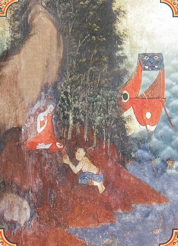 temple painting of Sankha Jataka