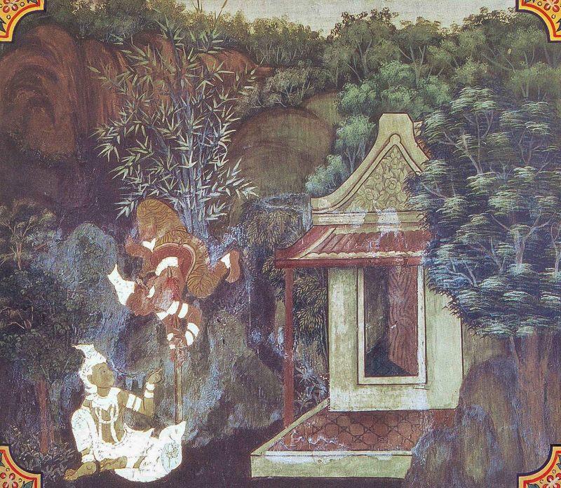 temple painting of Kanhadipayana Jataka