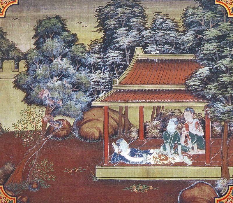 temple painting of Nigrodha Jataka