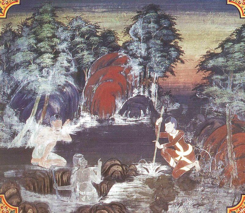 temple painting of Takkala Jataka