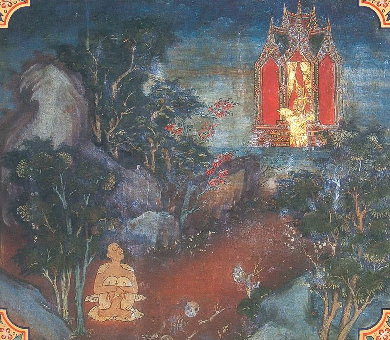 temple painting of Matta-Kundali Jataka