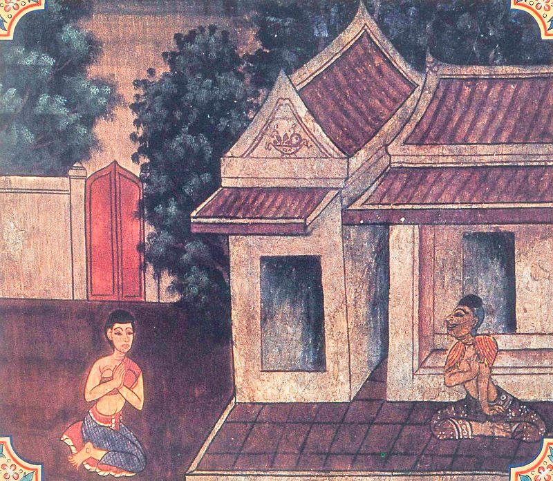 temple painting of Rohini Jataka