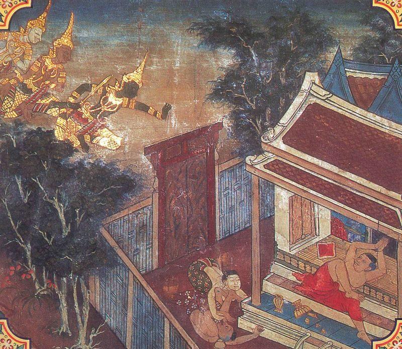 temple painting of Bilari-Kosiya Jataka