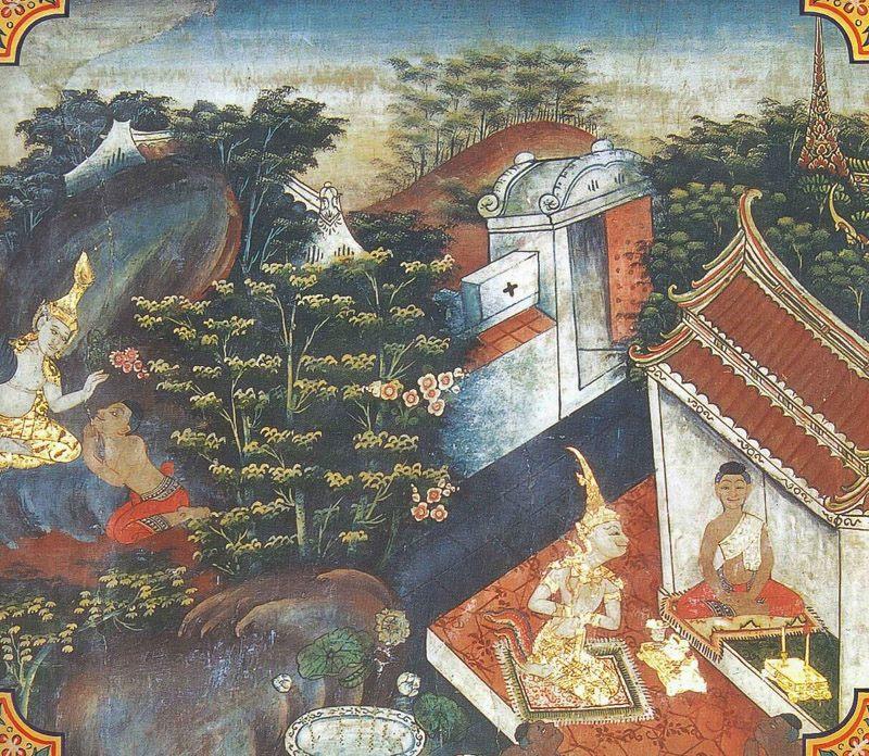 temple painting of Maha-Mangala Jataka