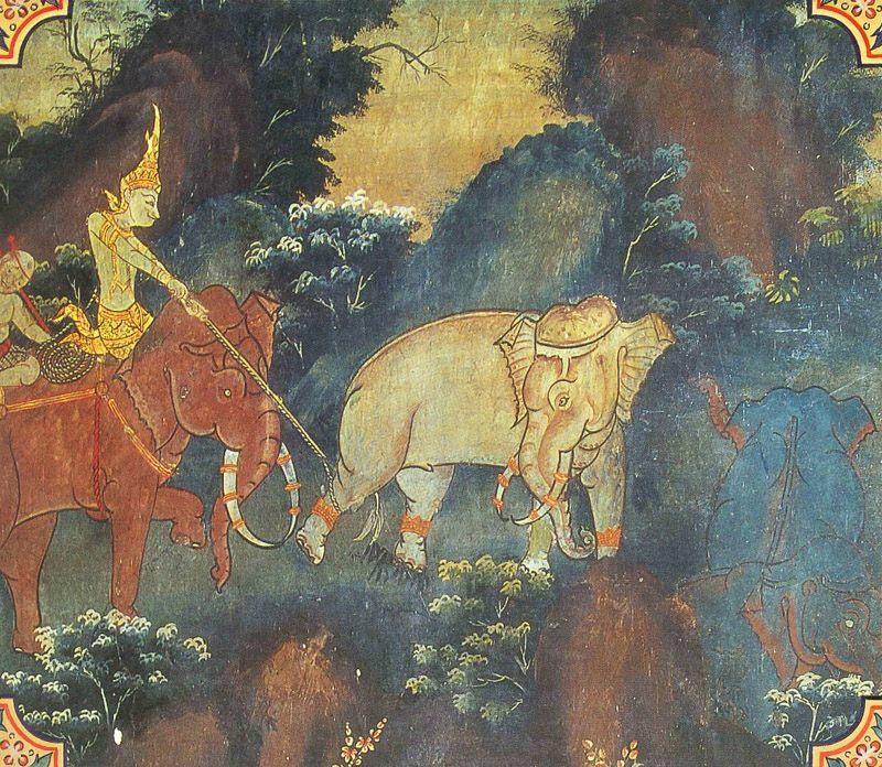 temple painting of Mati-Posaka Jataka