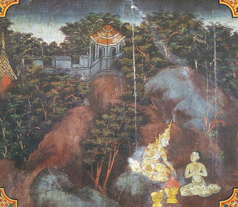temple painting of Junha Jataka