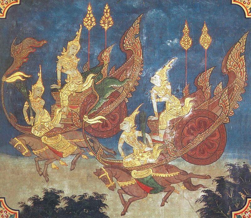 temple painting of Dhamma Jataka