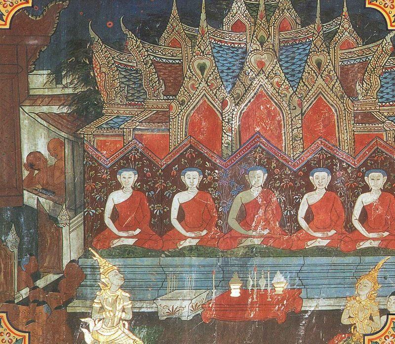 temple painting of Paniya Jataka