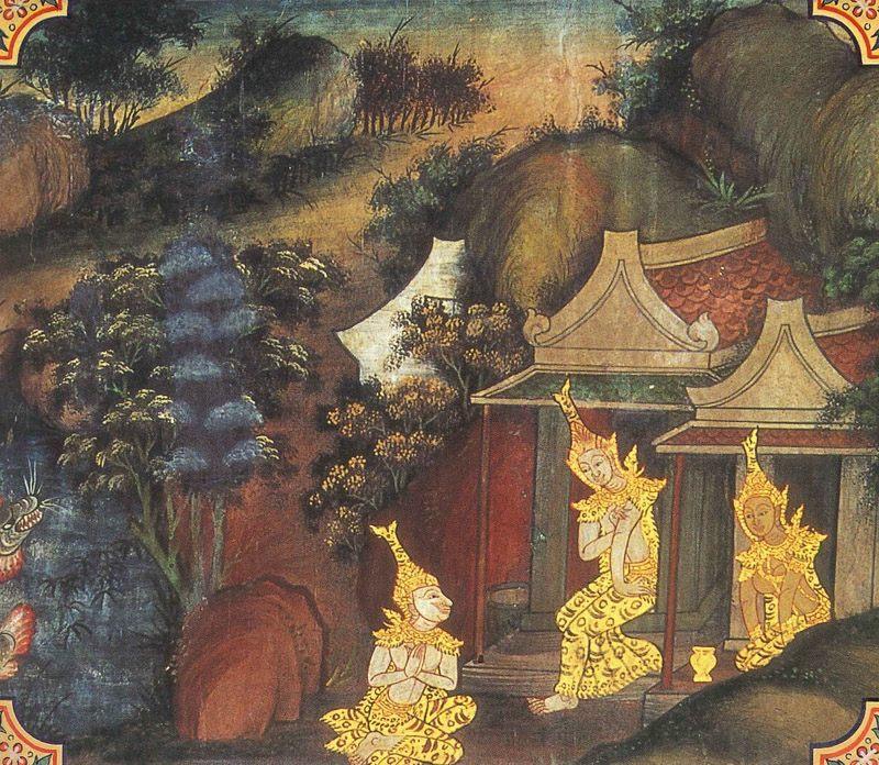 temple painting of Dasaratha Jataka