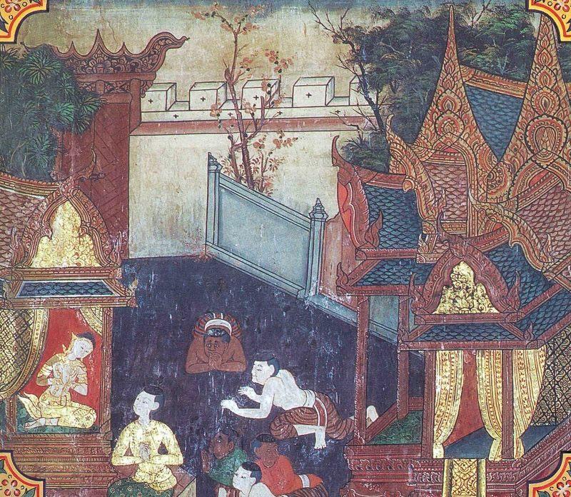 temple painting of Samvara Jataka