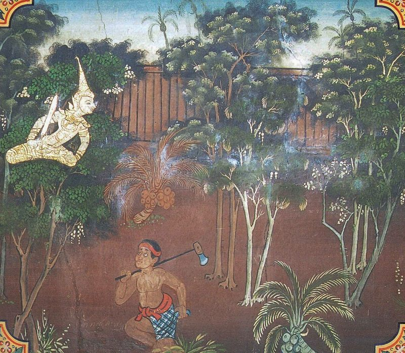 temple painting of Bhadda-Sala Jataka