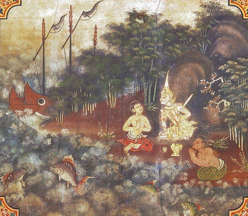 temple painting of Samudda-Vanija Jataka