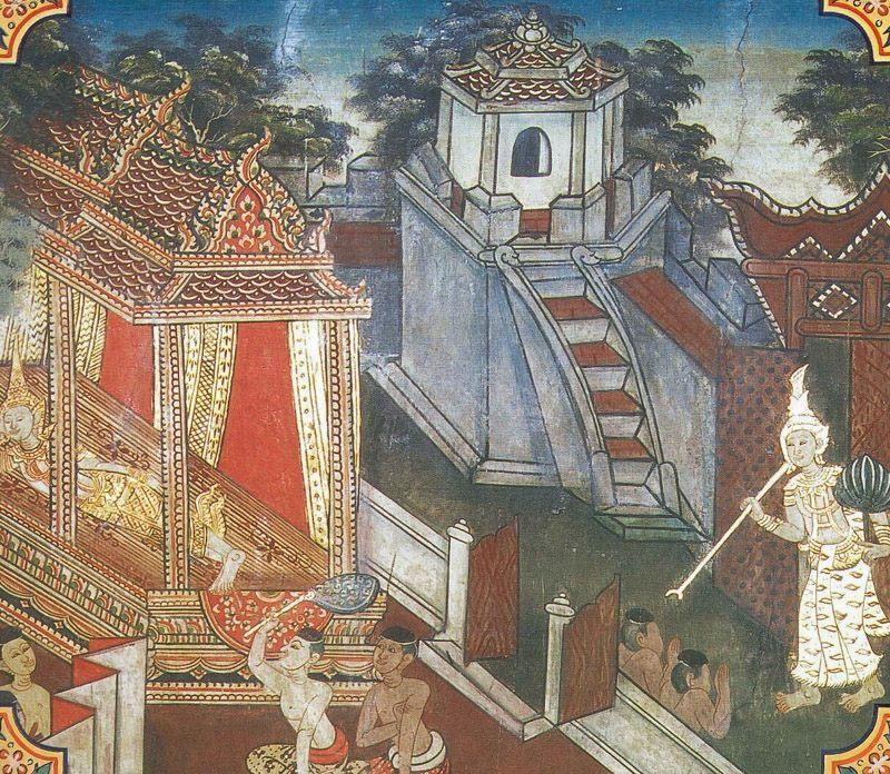 temple painting of Kama Jataka