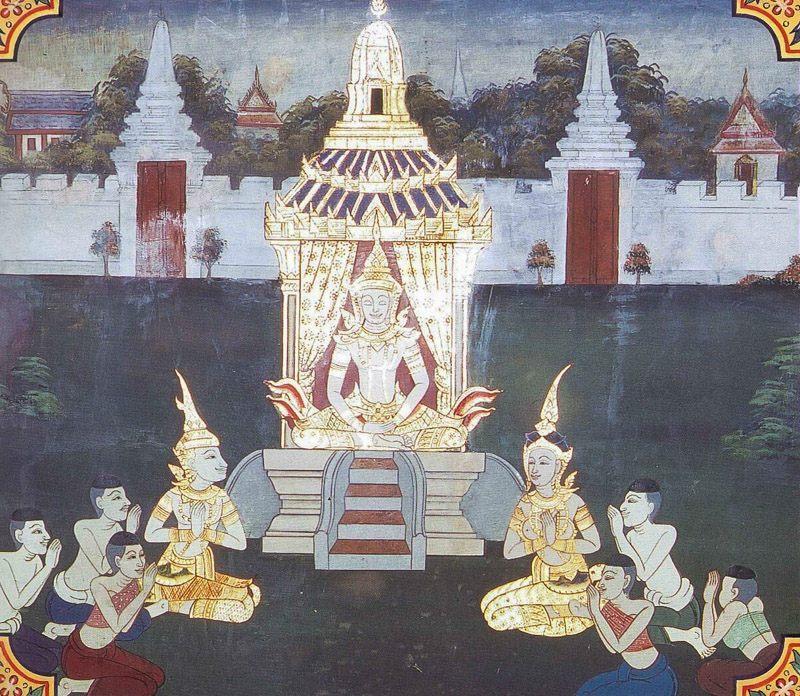 temple painting of Janasandha Jataka