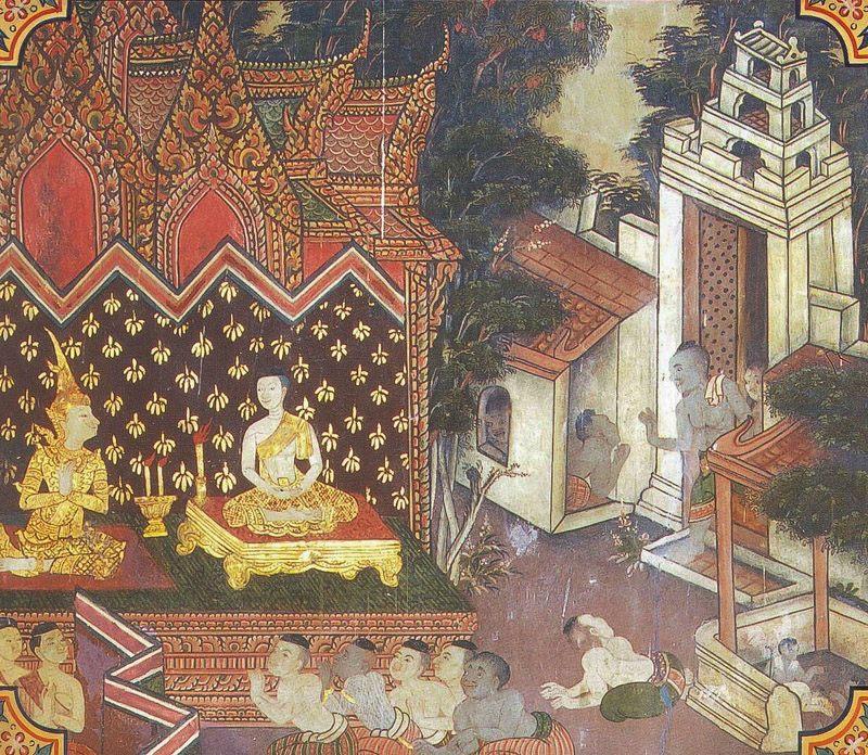 temple painting of Mittamitta Jataka
