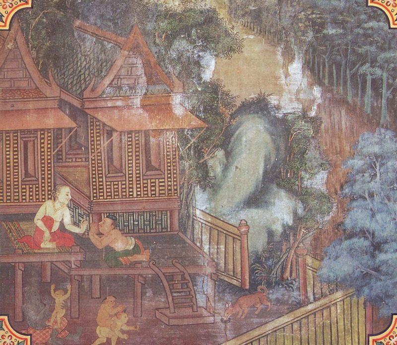 temple painting of Amba Jataka
