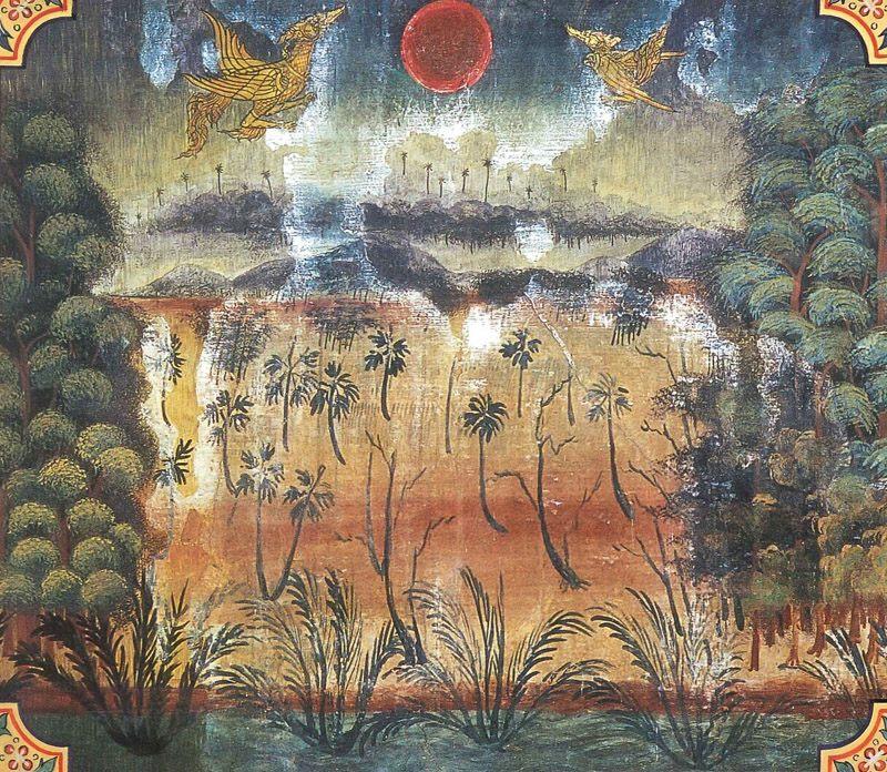 temple painting of Javana-Hamsa Jataka