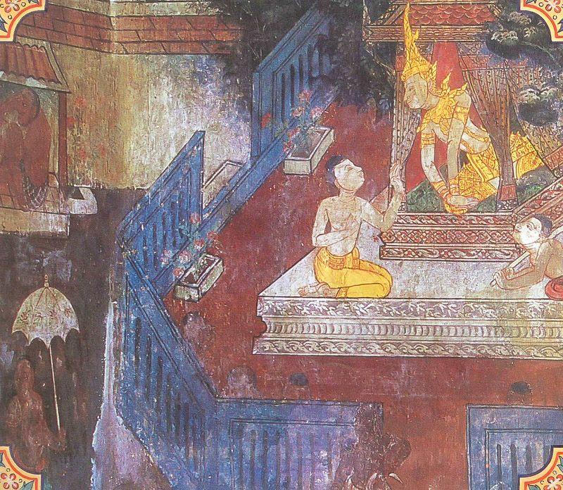 temple painting of Takkariya Jataka
