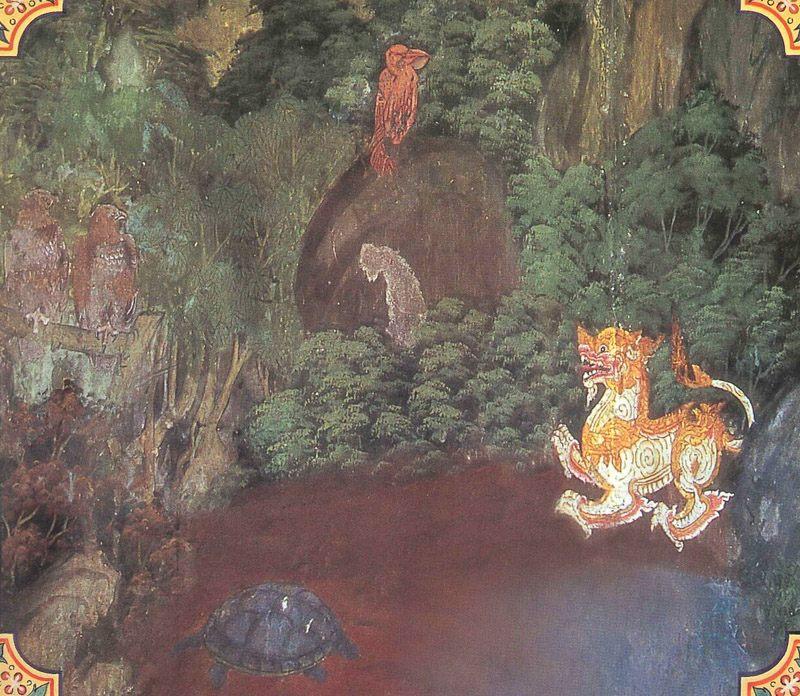 temple painting of Maha-Ukkusa Jataka