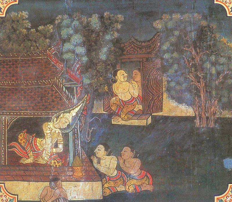 temple painting of Uddalaka Jataka