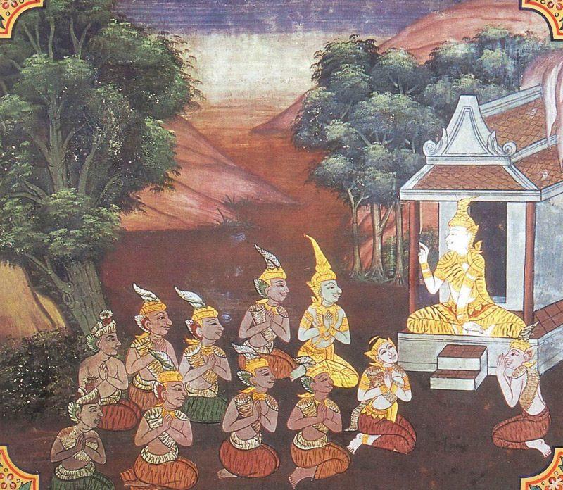 temple painting of Bhisa Jataka