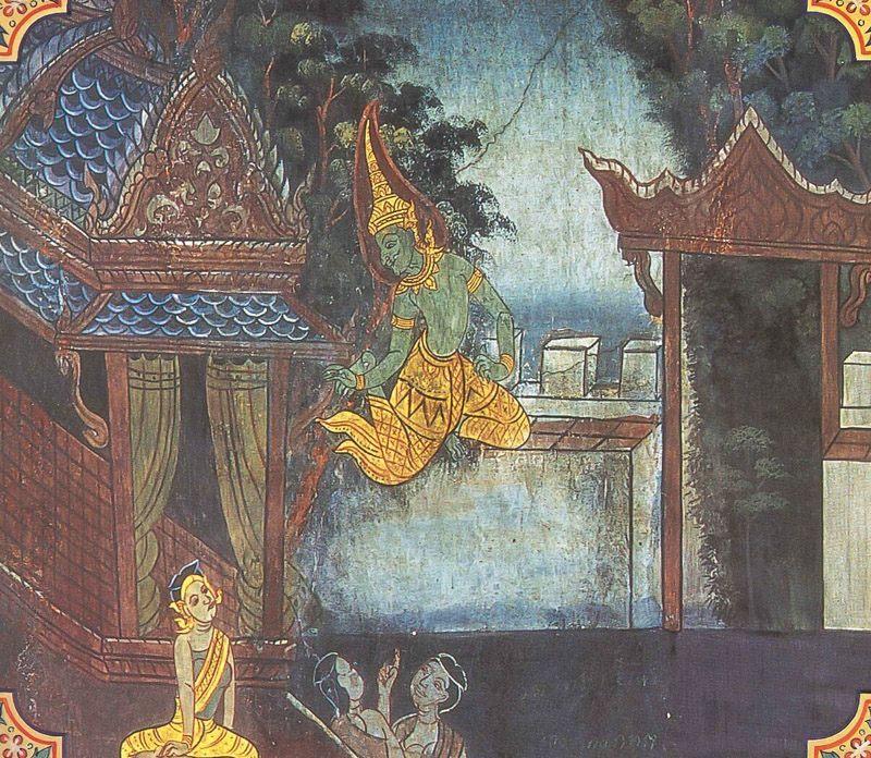 temple painting of Suruci Jataka