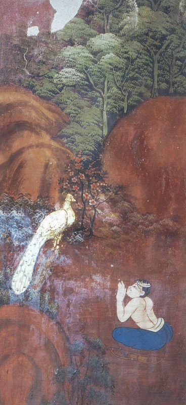 temple painting of Maha-Mora Jataka