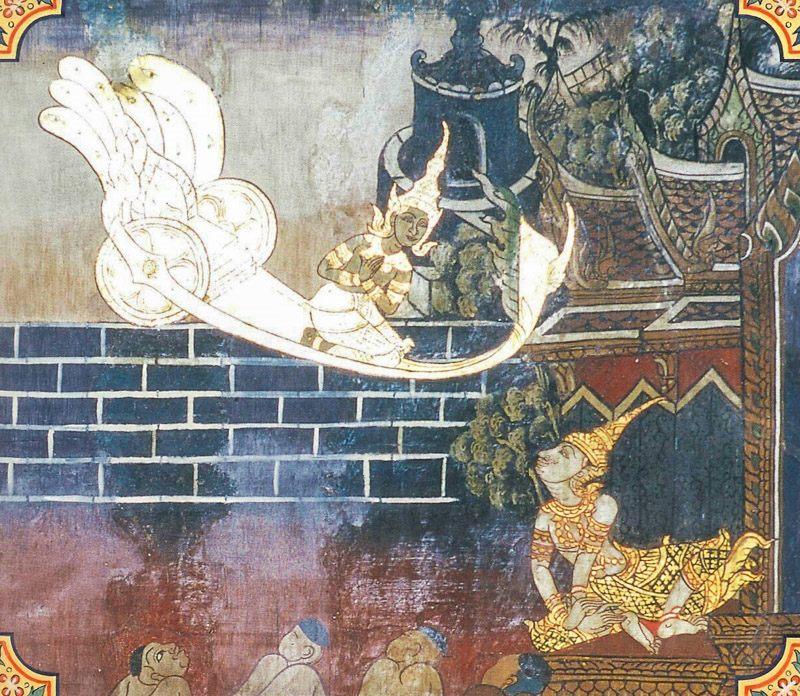 temple painting of Sadhina Jataka