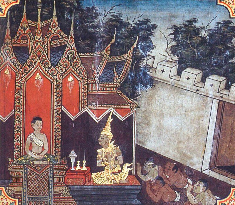 temple painting of Dasa-Brahmana Jataka