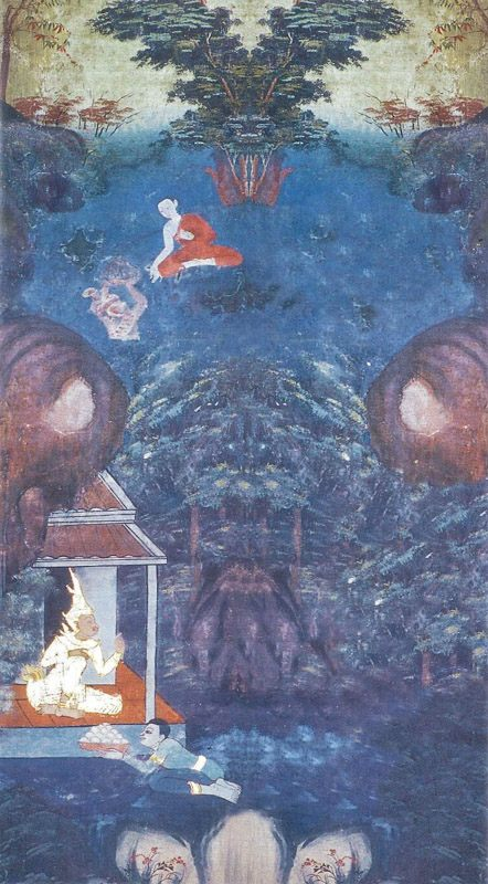 temple painting of Bhikkha-Parampara Jataka
