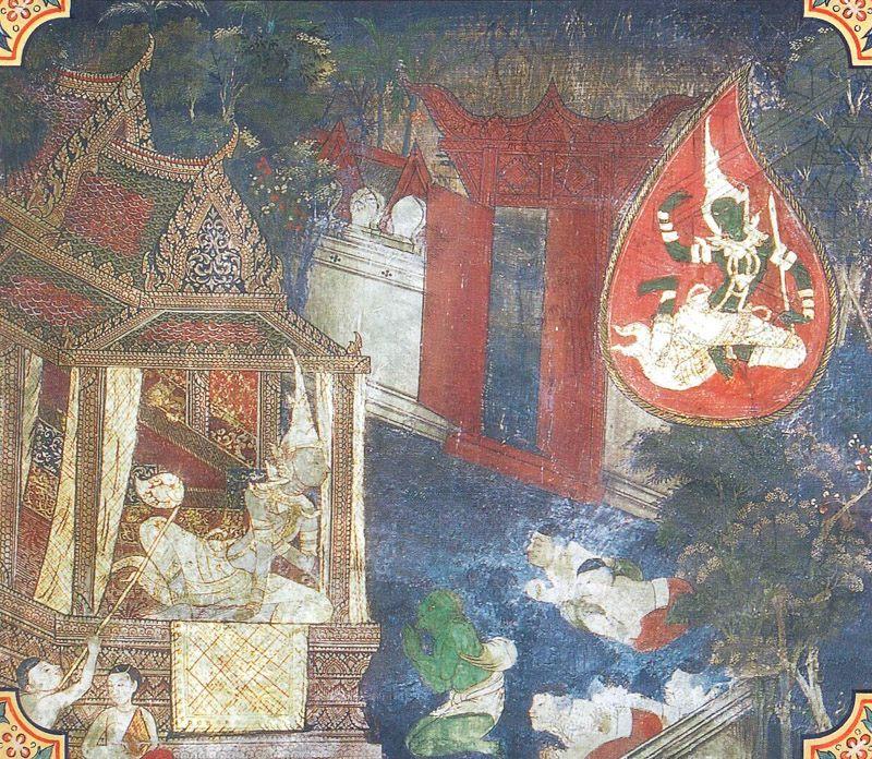 temple painting of Sivi Jataka
