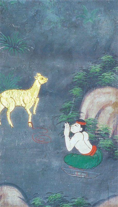 temple painting of Rohanta-Miga Jataka