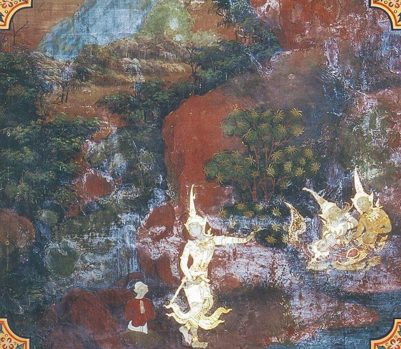 temple painting of Bhallatiya Jataka