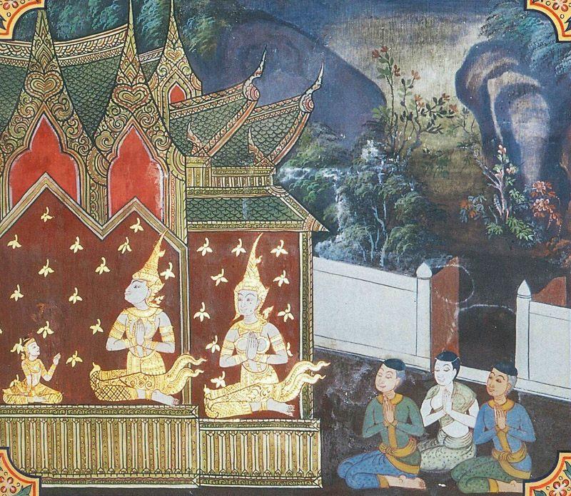 temple painting of Somanassa Jataka