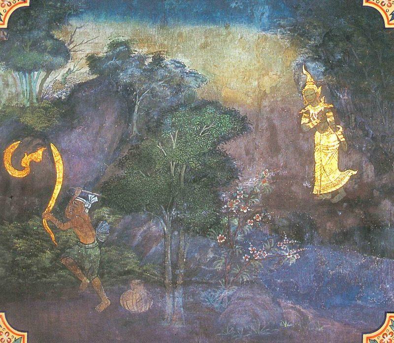 temple painting of Campeyya Jataka