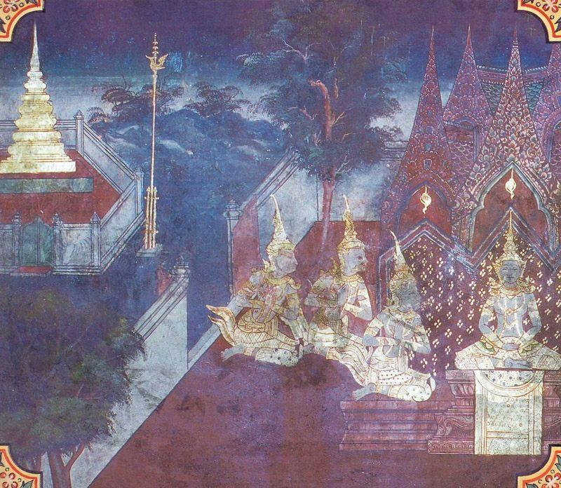 temple painting of Hatthi-Pala Jataka