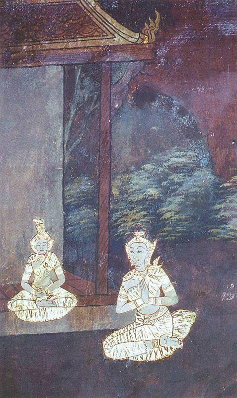 temple painting of Ayoghara Jataka