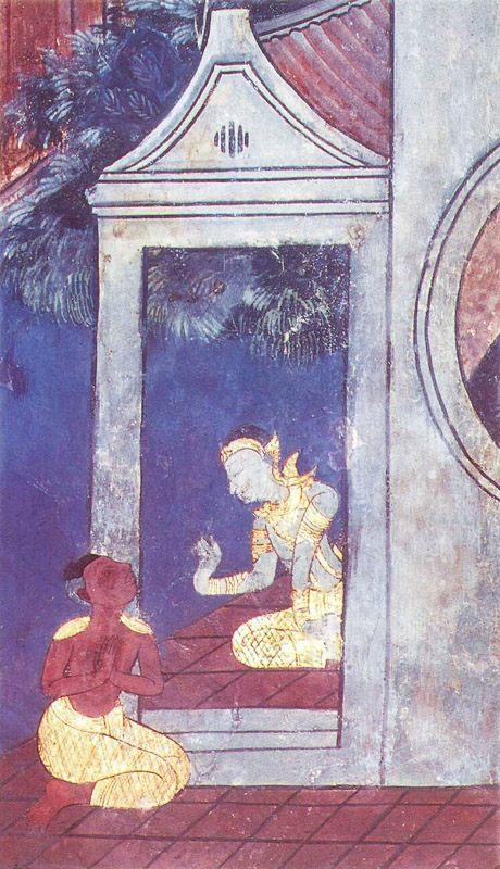 temple painting of Sambhava Jataka