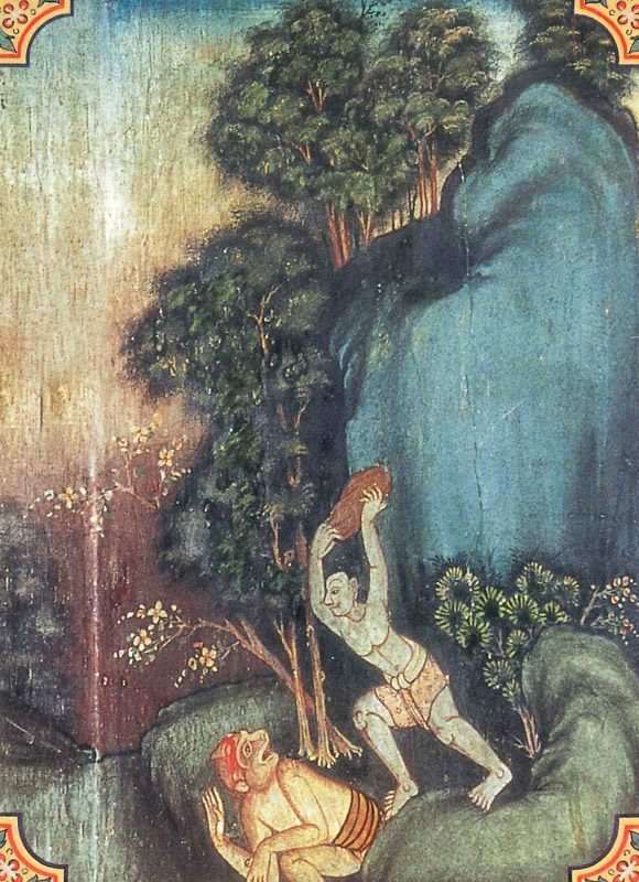 temple painting of Mahakapi Jataka