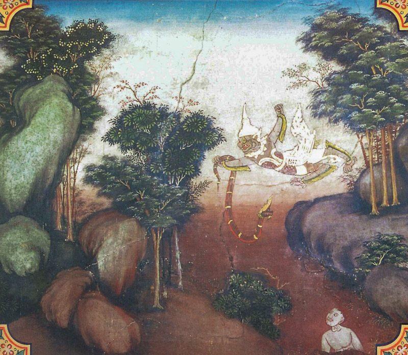 temple painting of Pandara Jataka