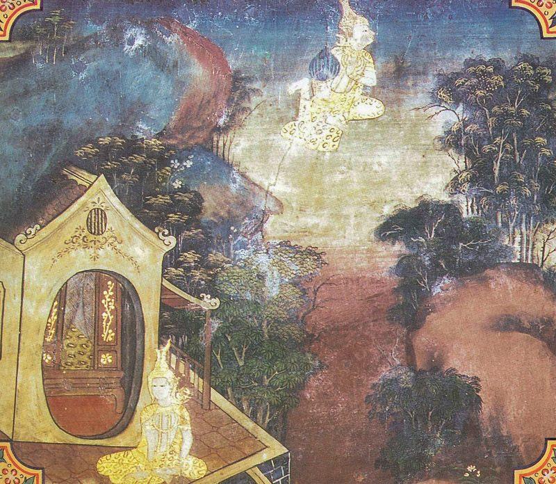 temple painting of Samkicca Jataka