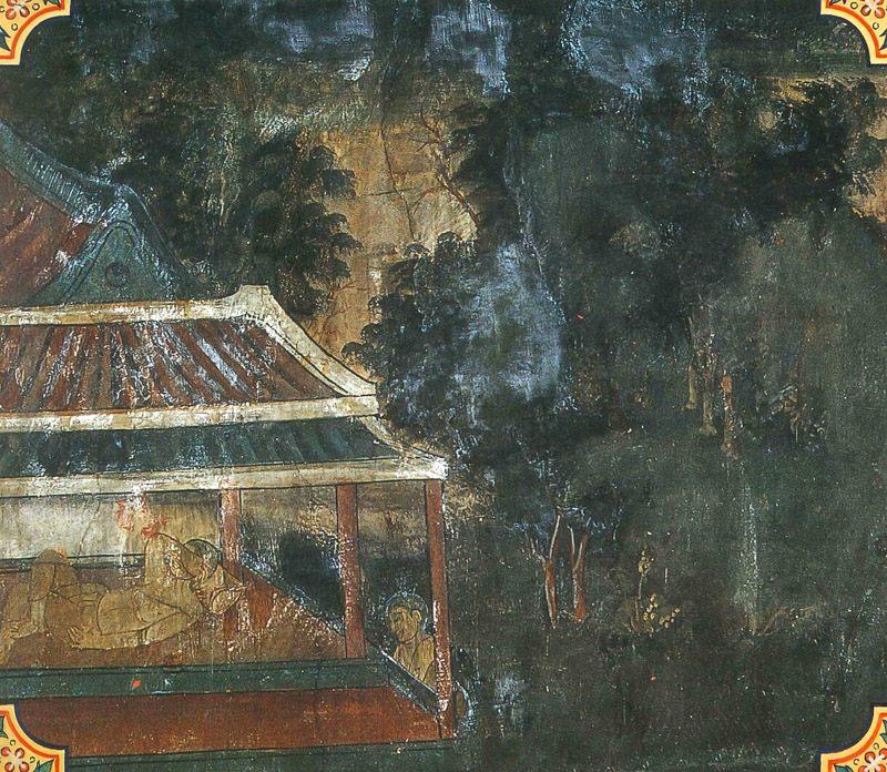 temple painting of Lomahamsa Jataka